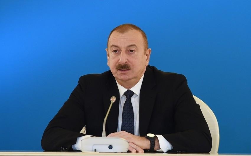 Prezident: Ümid edirəm ki, bu ilin sonuna kimi biz Cənub Qaz Dəhlizi layihəsinin açılışını qeyd edəcəyik