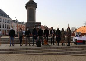 Plac Zamkovy meydanında Xocalıya həsr olunan aksiya təşkil edilib