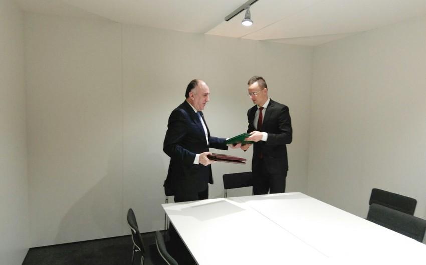 Elmar Məmmədyarov Finlandiyanın XİN başçısı ilə görüşüb
