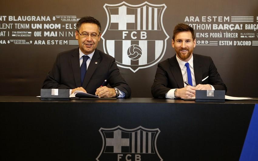 """Lionel Messi """"Barselona"""" ilə yeni müqaviləsinə xüsusi bənd əlavə etdirib"""