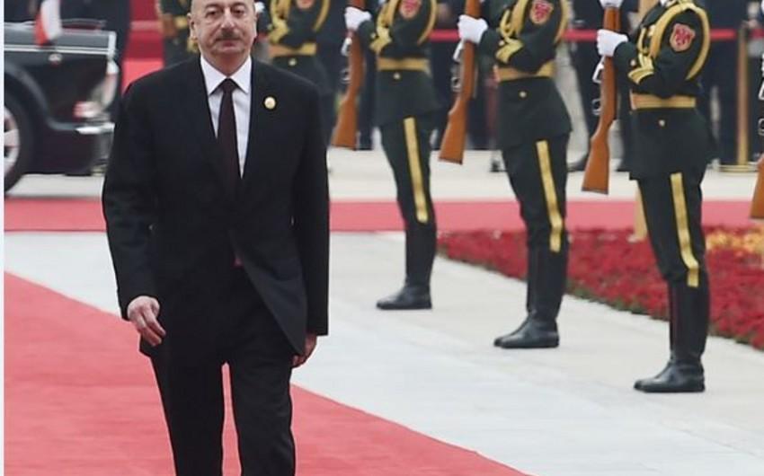 Prezident İlham Əliyevin Çinə işgüzar səfəri başa çatıb
