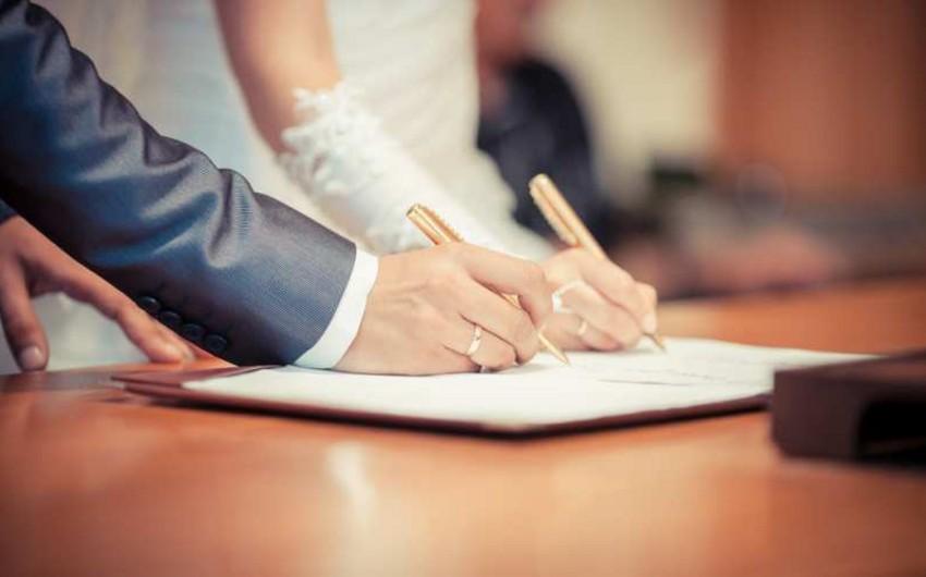 Azərbaycanda karantin dövründə qeydə alınan nikahların sayı açıqlandı