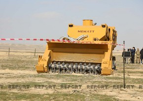 Turkish Interior Ministry: Demining machines we sent to Azerbaijan have been successfully tested