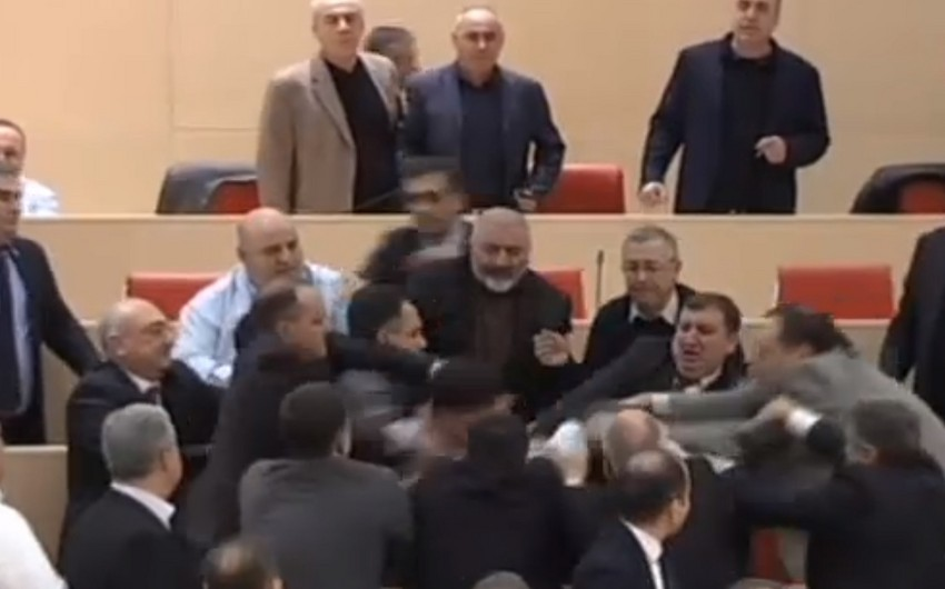 Mass brawl took place in Parliament of Georgia