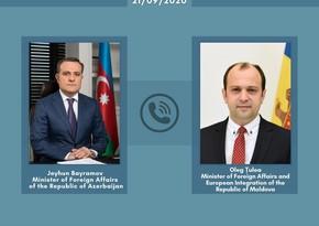 Azərbaycan və Moldova XİN başçıları arasında telefon danışığı oldu