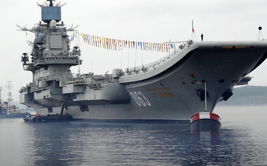 Rusiyada hərbi gəmidə yanğın olub, xəsarət alanlar var - VİDEO