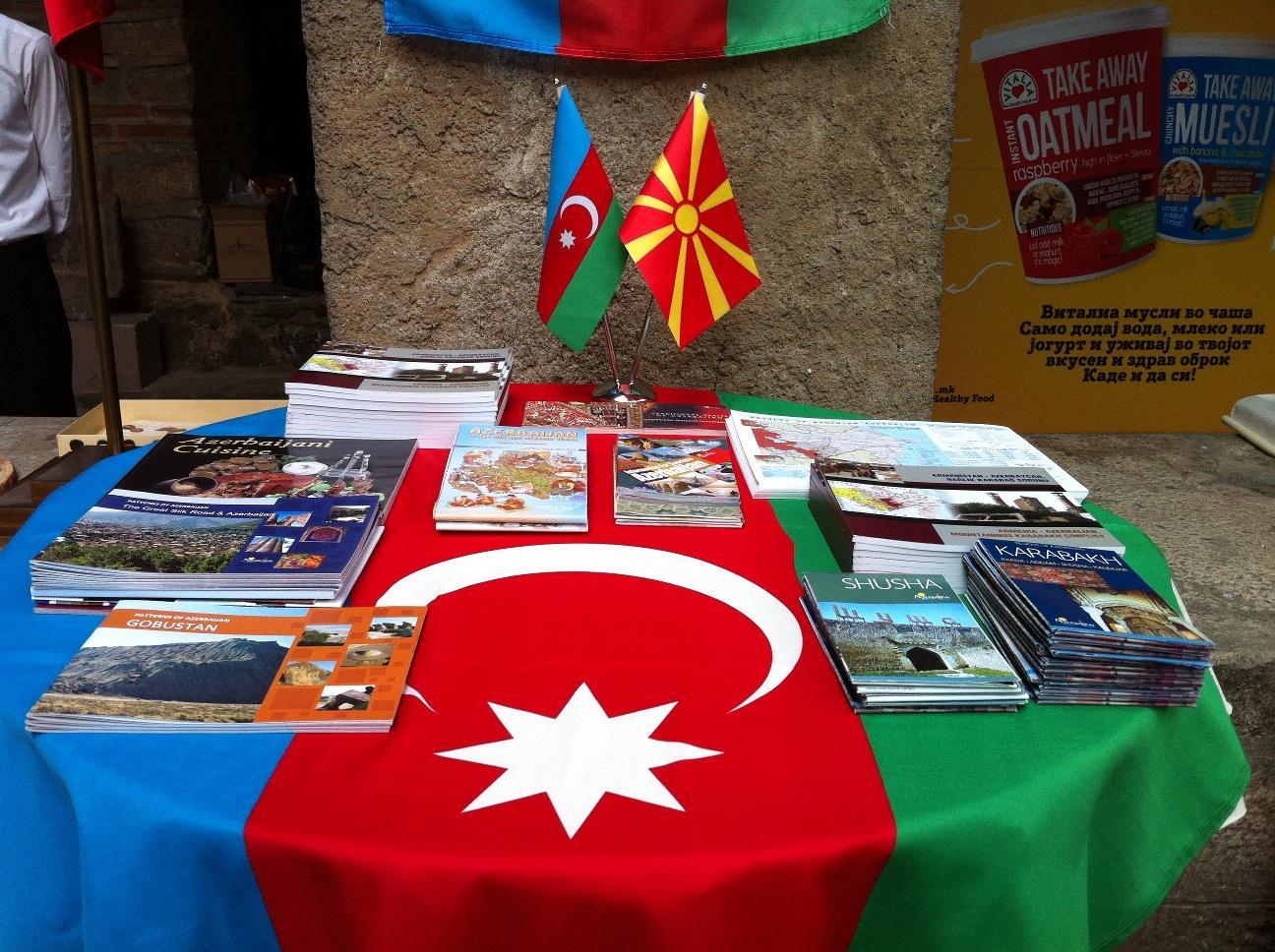 Makedoniyada Azərbaycan güşəsi böyük maraqla qarşılanıb