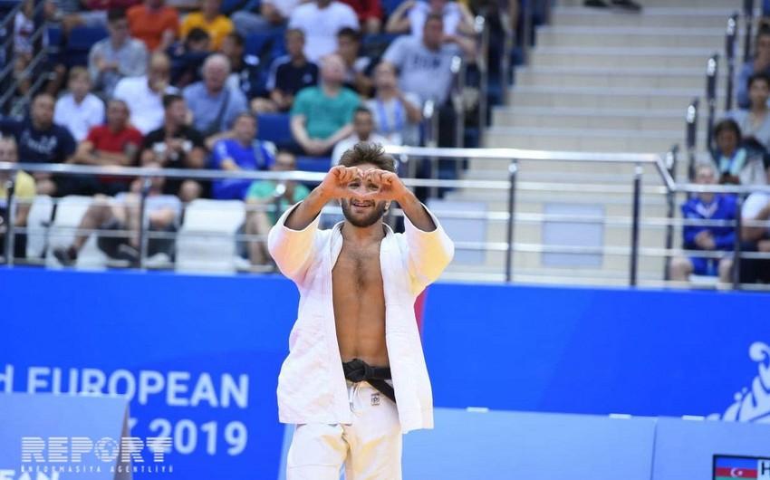 Minsk 2019: Azərbaycan cüdoçusu Hidayət Heydərov bürünc medal qazanıb - FOTO