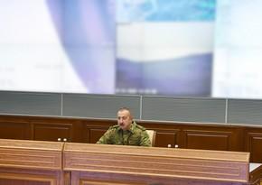 Ali Baş Komandanın rəhbərliyi ilə operativ müşavirə keçirilib