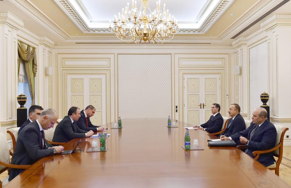 Президент Ильхам Алиев принял делегацию во главе с министром иностранных дел Боснии и Герцеговины
