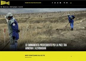 Italian portal: Demining - main prerequisite for peace between Armenia and Azerbaijan