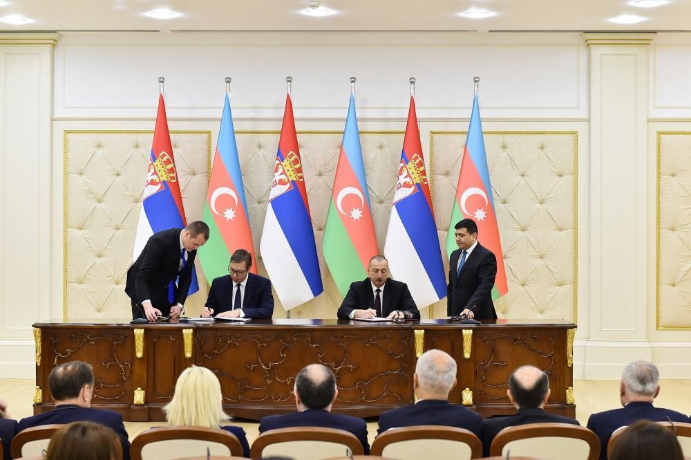 Azerbaijan, Serbia sign documents
