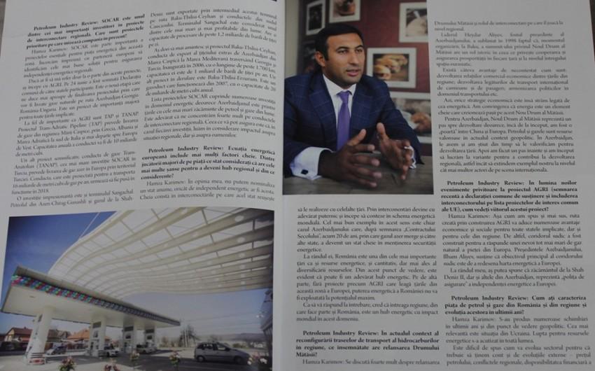 """SOCAR rəsmisi Rumıniyanın """"Neft sənayesi icmalı"""" jurnalına müsahibə verib"""