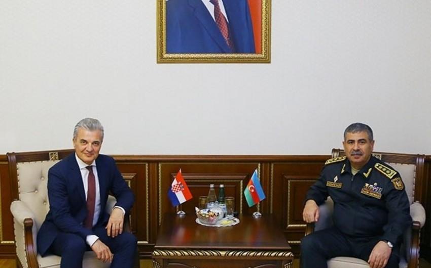 Обсуждены вопросы расширения военного сотрудничества между Азербайджаном и Хорватией