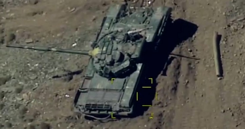 Enemy's military equipment destroyed