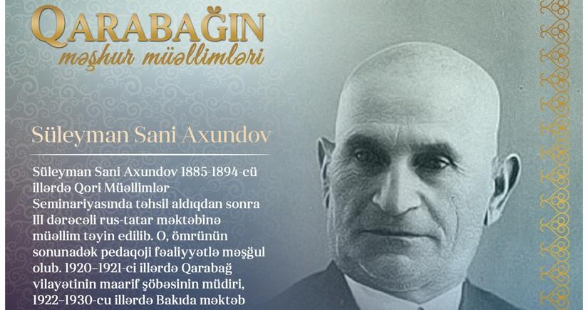 Qarabağın məşhur müəllimləri - Süleyman Sani Axundov