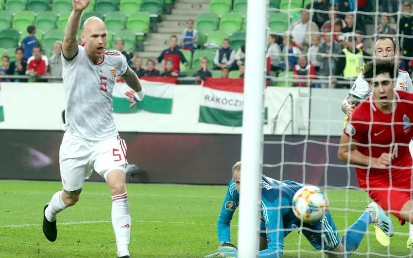 Macarıstanlı futbolçu: Azərbaycan yığmasının qolu hesaba alınmayanda ürəyimdən daş düşdü
