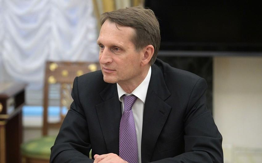 Sergey Narışkin Azərbaycan Prezidentini təbrik edib