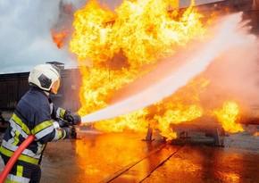 В Джалилабаде вспыхнул пожар