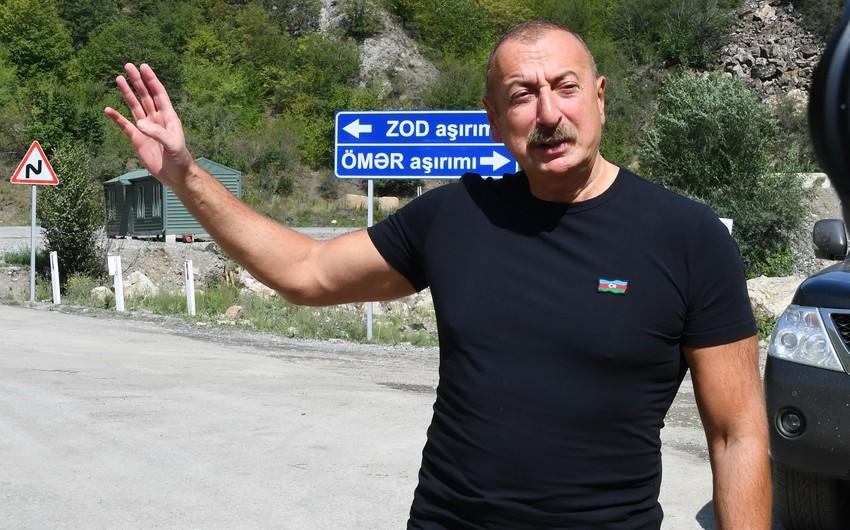 Prezident: Kəlbəcər işğal altına düşəndən sonra digər torpaqların işğalı da labüd idi