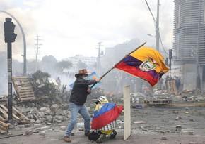 Ekvadorda etiraz nümayişləri zamanı saxlanılanlar var