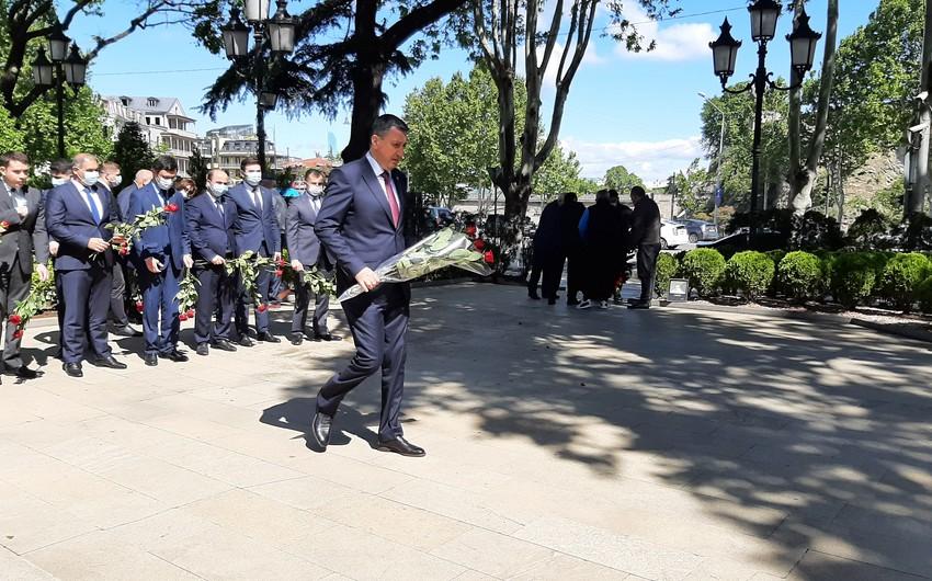 National Leader of Azerbaijan commemorated in Georgia