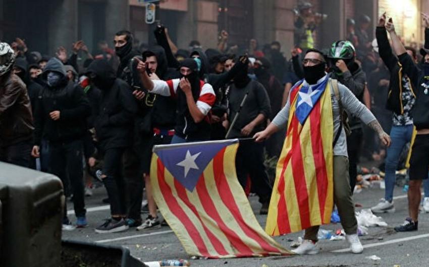 В центре Барселоны началась акция протеста