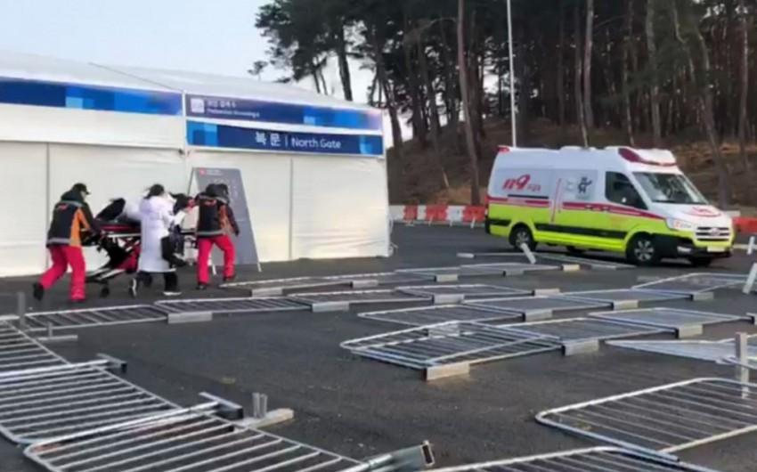 Qış Olimpiya Oyunlarının keçirildiyi Pxençxanda fırtına başlayıb - VİDEO