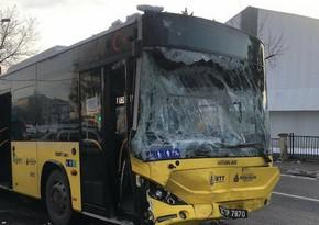 İstanbulda avtobusla mikroavtobus toqquşub, yaralılar var