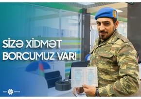 """""""ASAN xidmət""""dən şəhid ailələri və qazilər üçün xüsusi xidmət"""