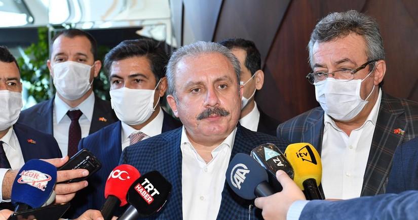 Turkish Parliament Speaker arrives in Azerbaijan