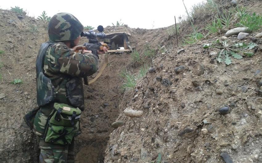 Son iki sutkada erməni silahlı bölmələri atəşkəs rejimini 112 dəfə pozub