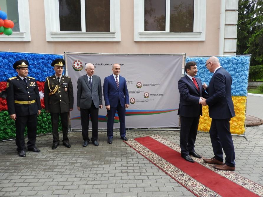 Azərbaycan Xalq Cümhuriyyətinin 100 illiyi münasibətilə Kiyevdə rəsmi qəbul keçirilib