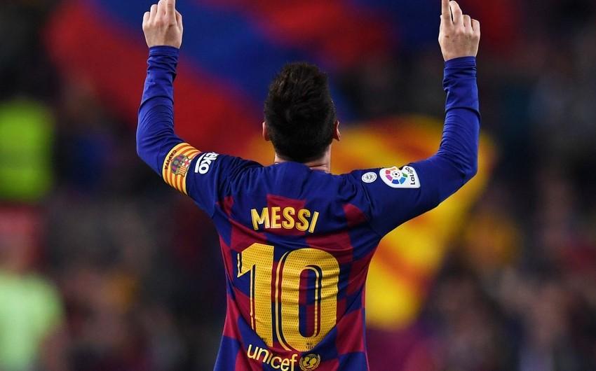 Messi 34 kluba qol vurmaqla Çempionlar Liqasında rekorda imza atıb