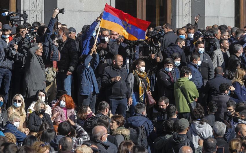 Yerevanda Paşinyana qarşı yeni aksiya keçirilib