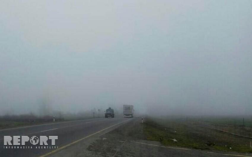 Bakı-Qazax magistralında nəqliyyatın hərəkəti məhdudlaşıb