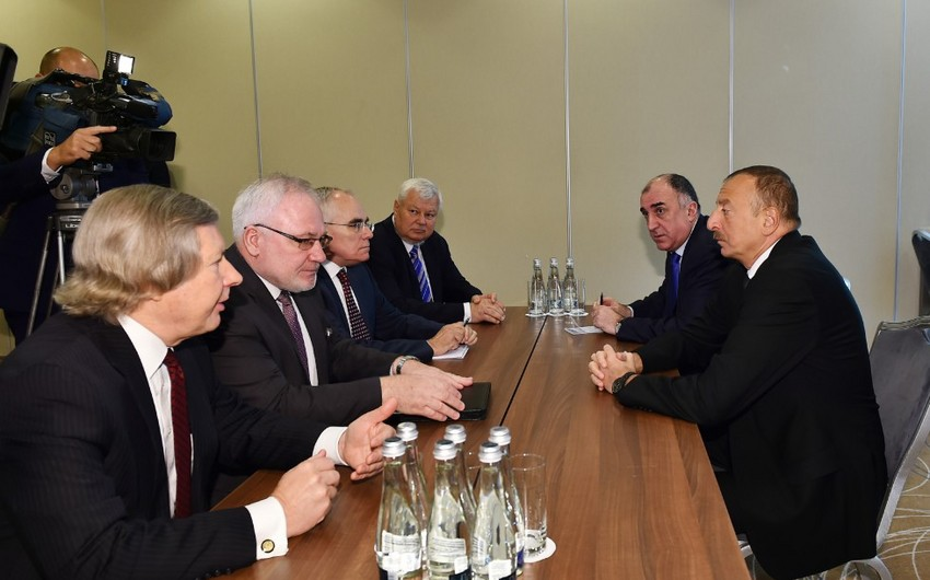 Azərbaycan Prezidenti Varşavada ATƏT-in Minsk qrupunun həmsədrləri ilə görüşüb