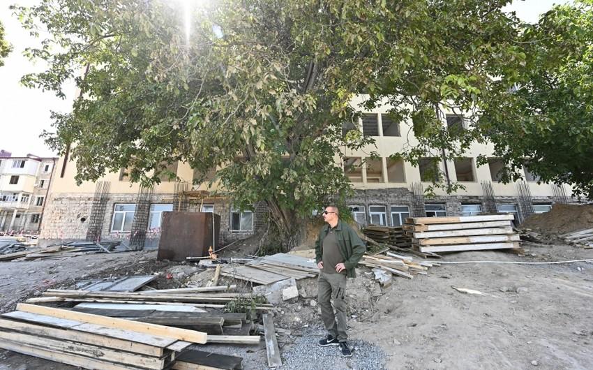Ильхам Алиев ознакомился с ремонтом здания спецпредставительства в Шуше