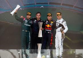 Награждены победители Гран-при Азербайджана Формулы-1 - ОБНОВЛЕНО