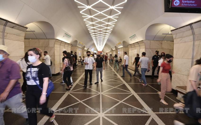 Bakı metrosu iyun-iyul aylarında 20 milyona yaxın sərnişin daşıyıb