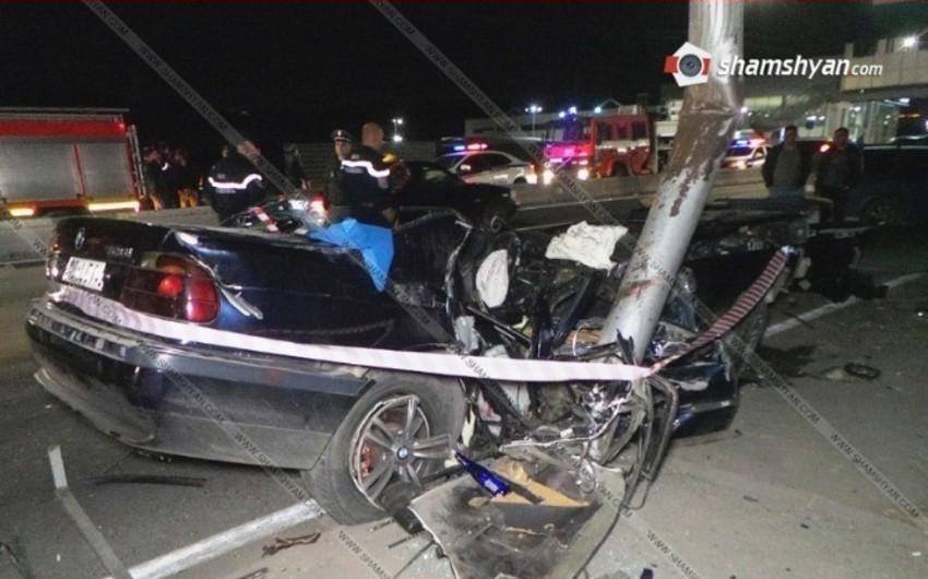 Yerevanda yol qəzası olub:  3 nəfər ölüb, 2 nəfər yaralanıb