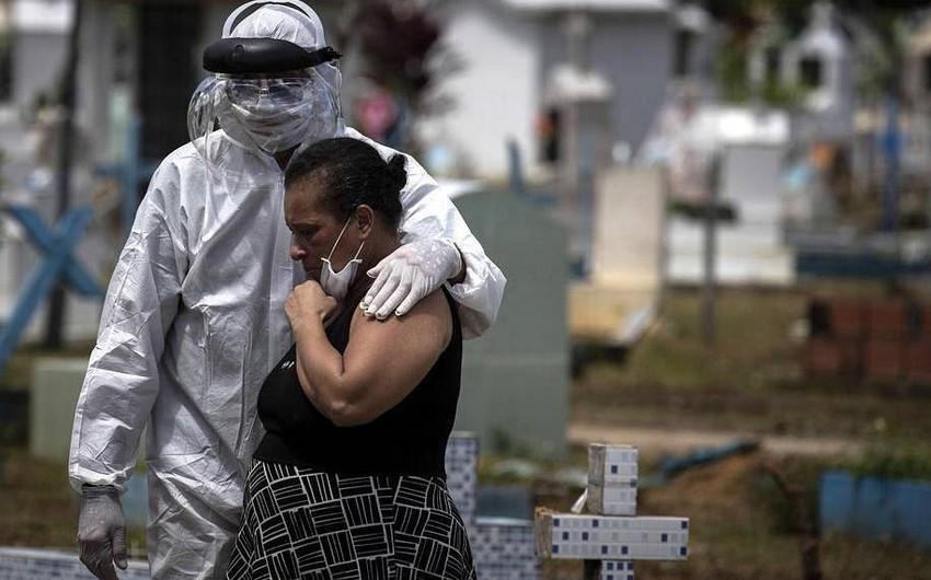 Braziliyada bir gündə koronavirusa 15 mindən çox yoluxma qeydə alındı
