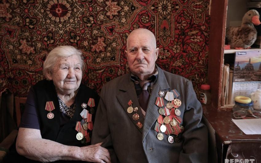 İkinci Dünya müharibəsi veteranlardan ikisi... - FOTOREPORTAJ