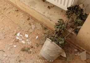 Разрушенные в Тертере дома