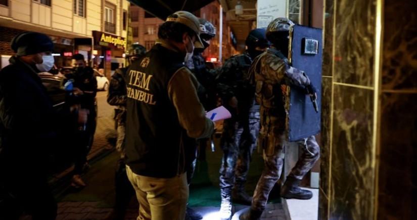 İstanbulda PKK əleyhinə əməliyyat zamanı 11 şübhəli şəxs saxlanıldı