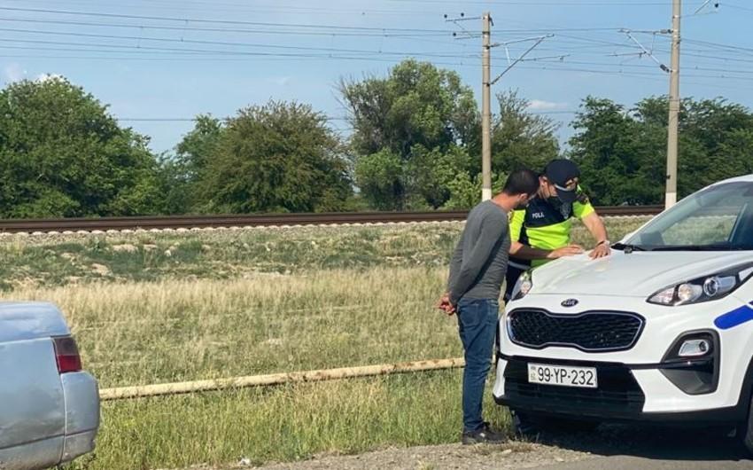 В Шамкире водители оштрафованы за непристегнутый ремень безопасности