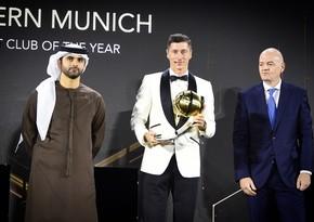 Левандовски стал лучшим футболистом года по версии Globe Soccer Awards