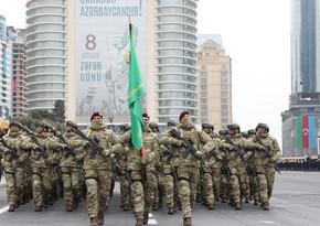 На военном параде прошли военнослужащие спецназа