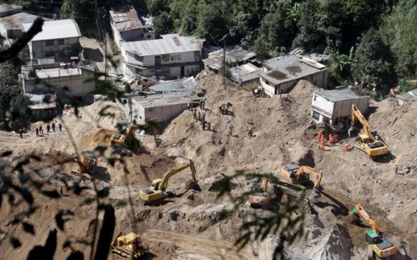 Qvatemalada sürüşmə nəticəsində ölənlərin sayı 260-ı keçib