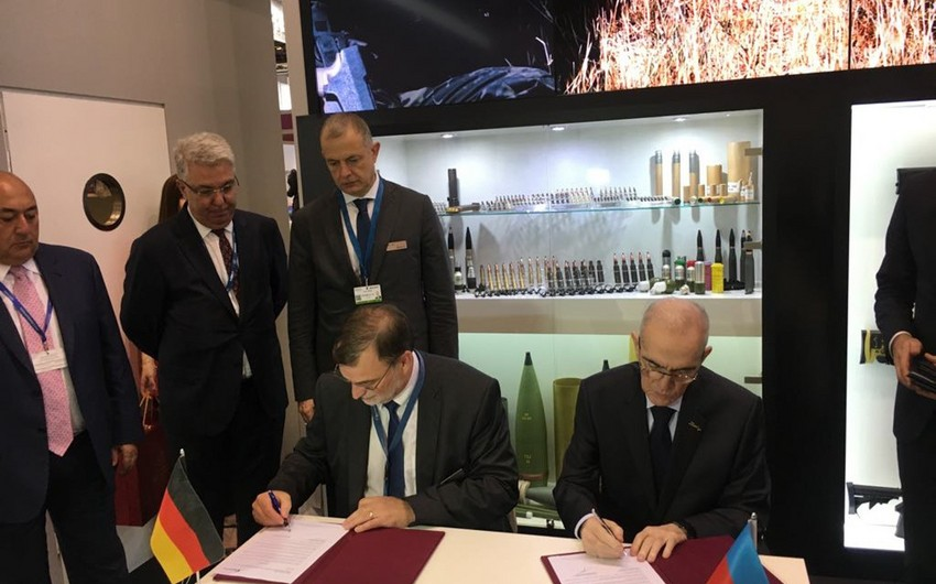 Cooperation document signed between Defense Industry Ministry of Azerbaijan and German company